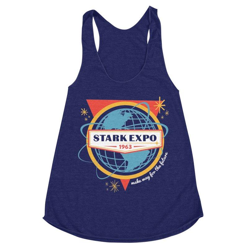 Expo 63 Women's Racerback Triblend Tank by Greg Gosline Design Co.