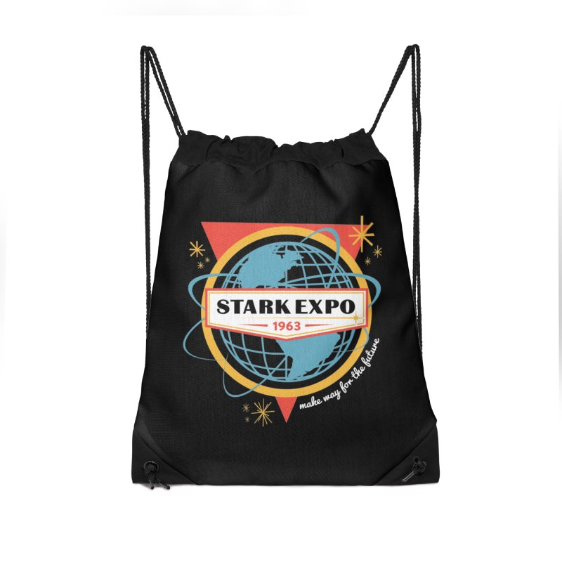 Expo 63 Accessories Drawstring Bag Bag by Greg Gosline Design Co.