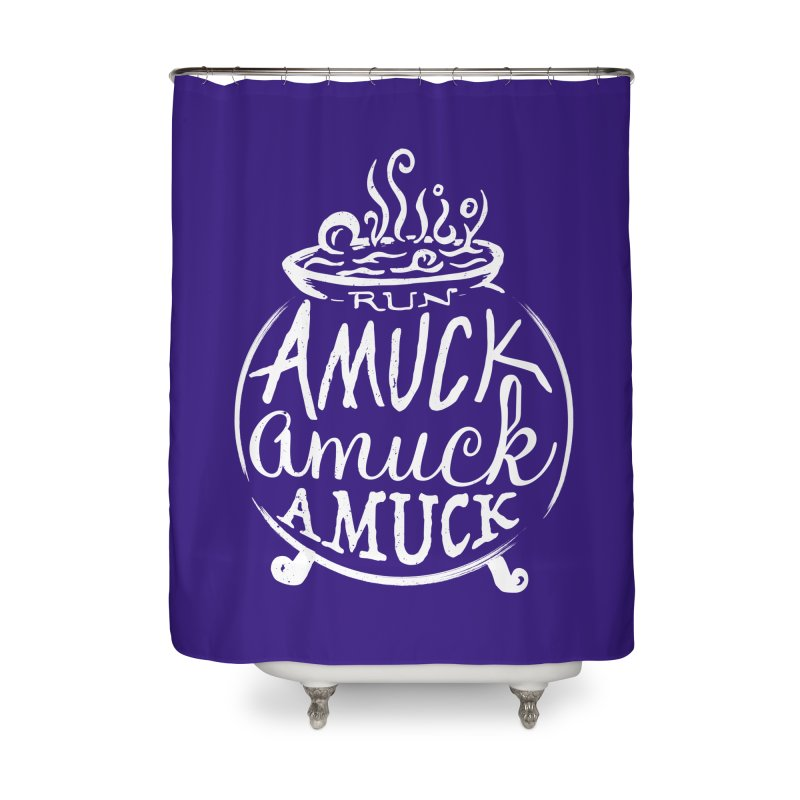 Amuck Home Shower Curtain by Greg Gosline Design Co.