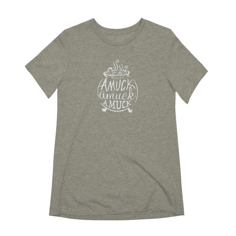 Amuck Women's Extra Soft T-Shirt by Greg Gosline Design Co.