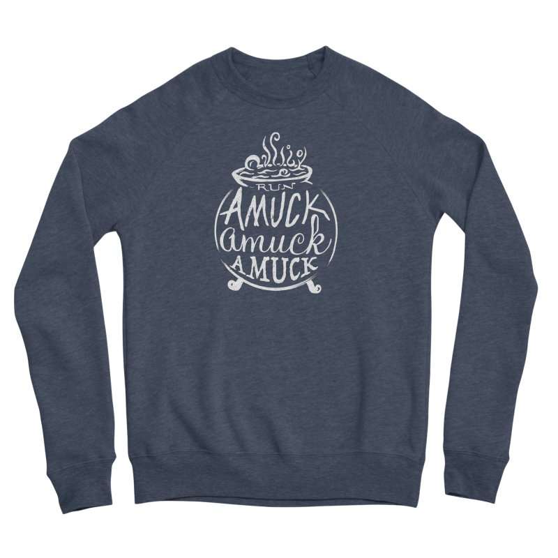 Amuck Men's Sponge Fleece Sweatshirt by Greg Gosline Design Co.