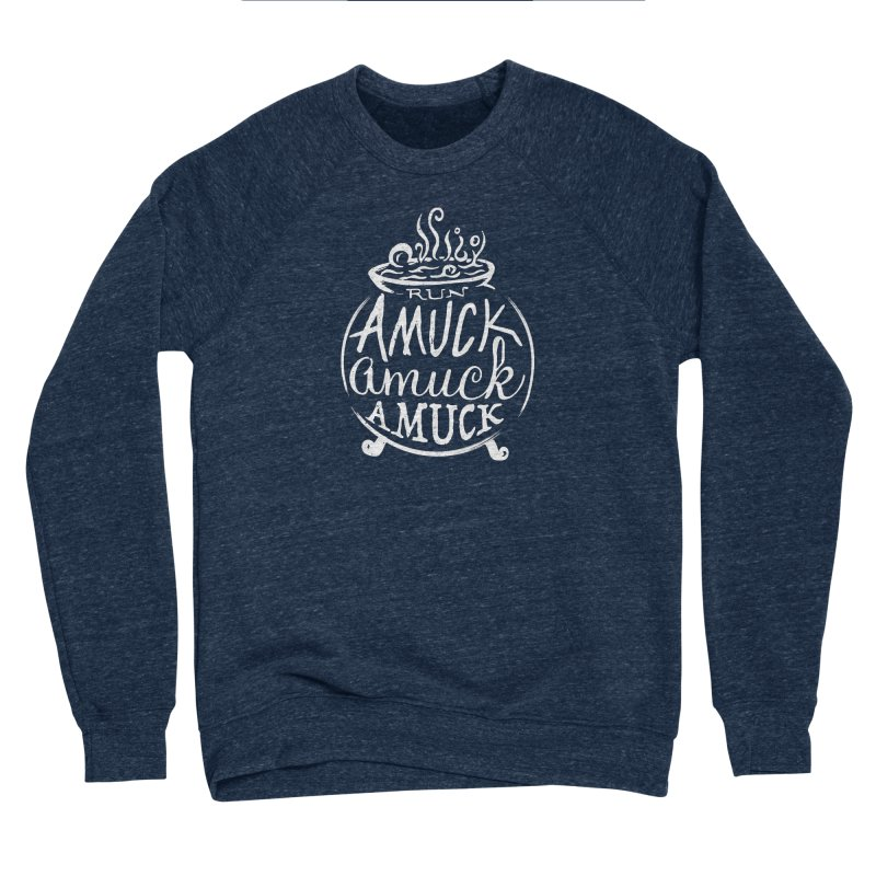 Amuck Women's Sponge Fleece Sweatshirt by Greg Gosline Design Co.