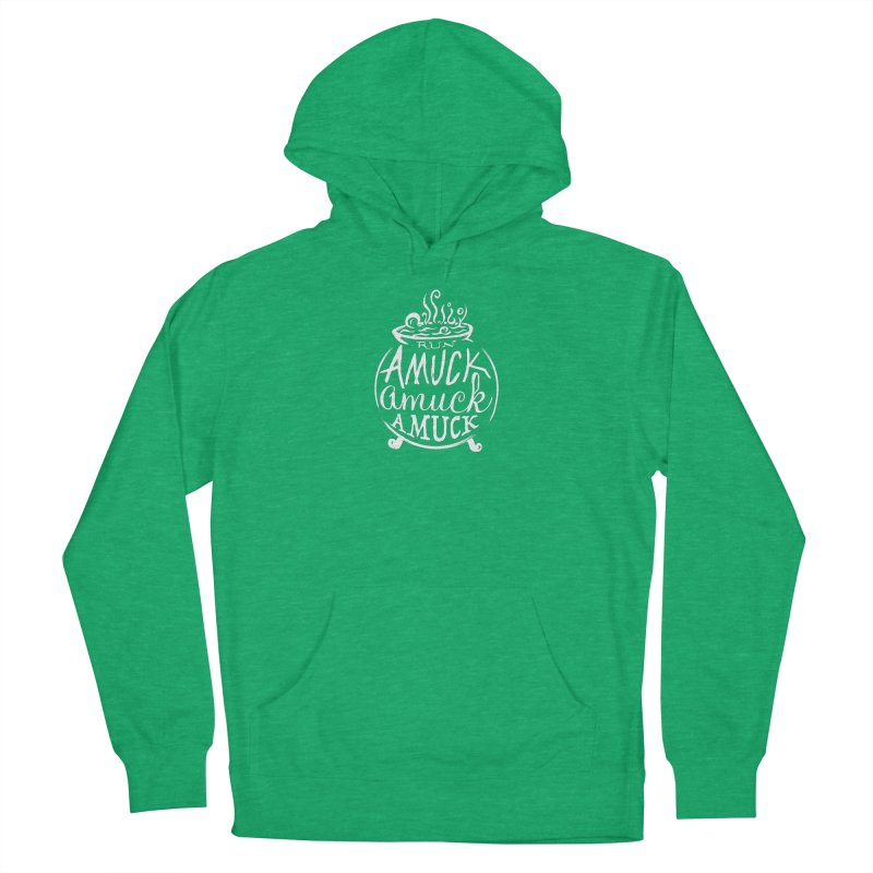 Amuck Women's French Terry Pullover Hoody by Greg Gosline Design Co.