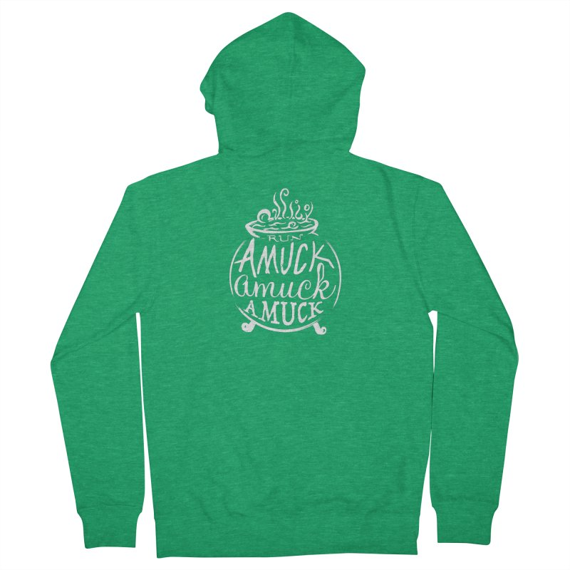 Amuck Men's French Terry Zip-Up Hoody by Greg Gosline Design Co.