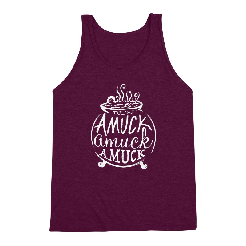 Amuck Men's Triblend Tank by Greg Gosline Design Co.