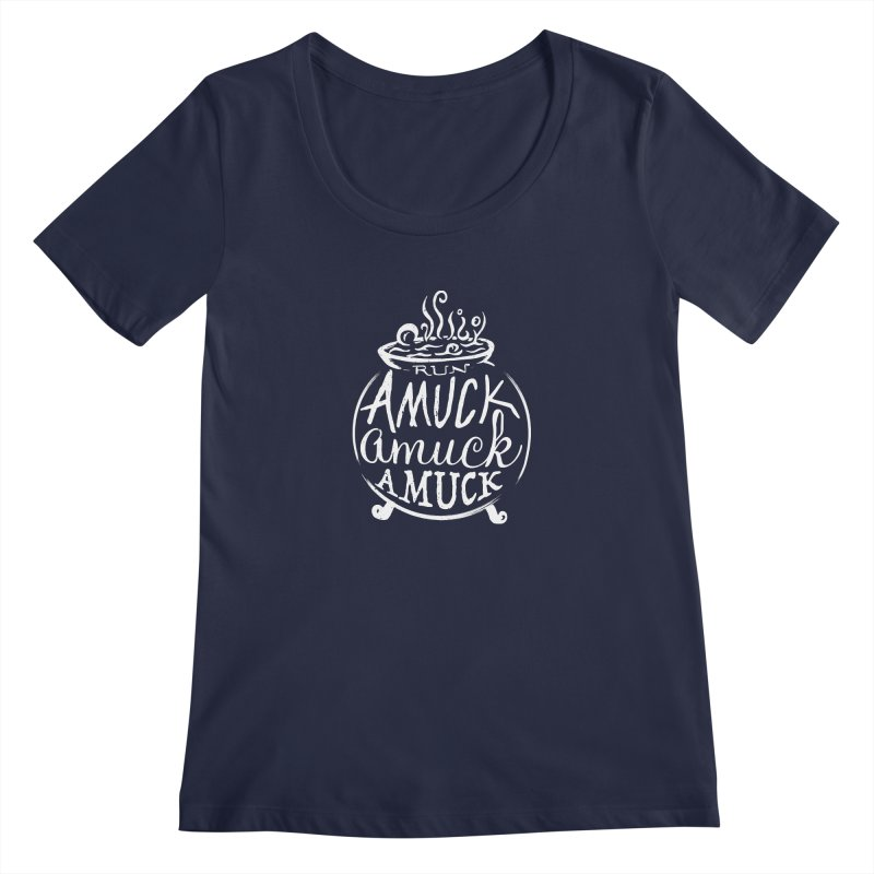 Amuck Women's Regular Scoop Neck by Greg Gosline Design Co.