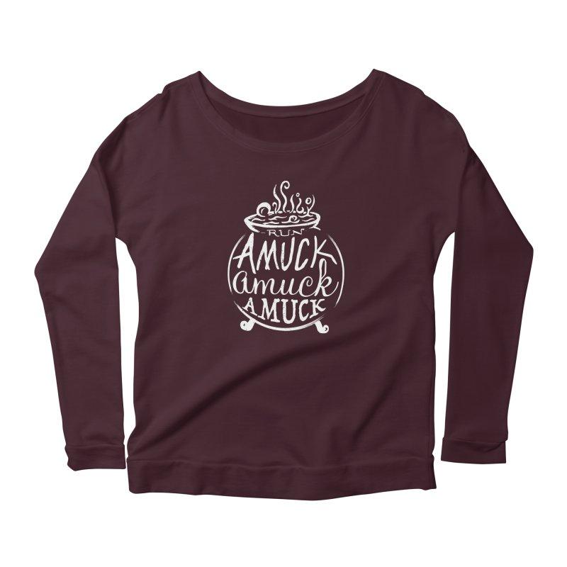 Amuck Women's Scoop Neck Longsleeve T-Shirt by Greg Gosline Design Co.