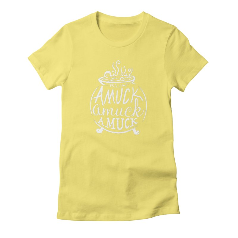 Amuck Women's Fitted T-Shirt by Greg Gosline Design Co.