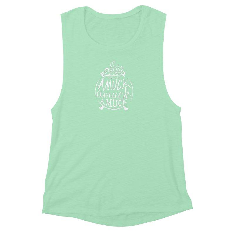 Amuck Women's Muscle Tank by Greg Gosline Design Co.