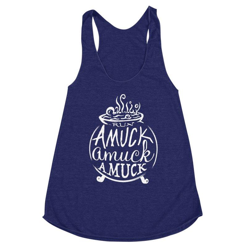 Amuck Women's Racerback Triblend Tank by Greg Gosline Design Co.