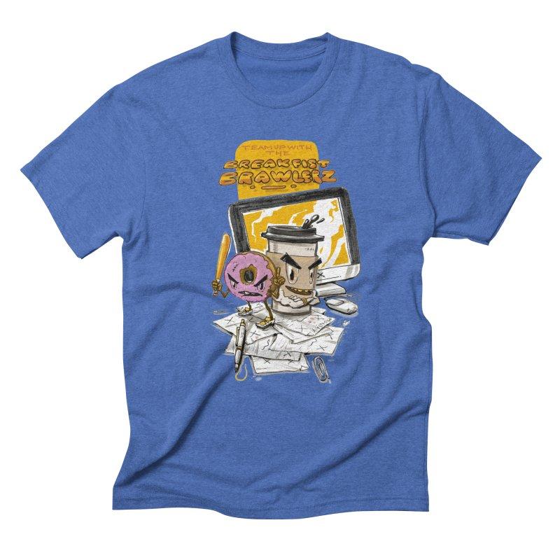 BREAKFIST BRAWLERZ Men's Triblend T-Shirt by JG2D Artist Shop