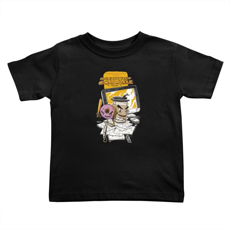 BREAKFIST BRAWLERZ Kids Toddler T-Shirt by JG2D Artist Shop