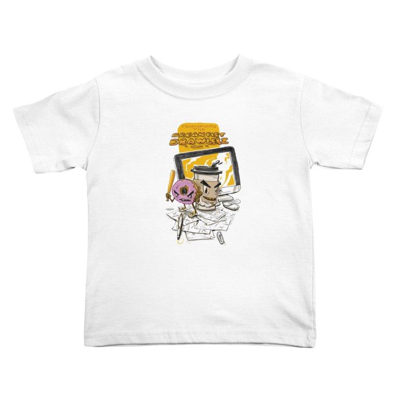 BREAKFIST BRAWLERZ Kids Toddler T-Shirt by JG2D Artist Shop