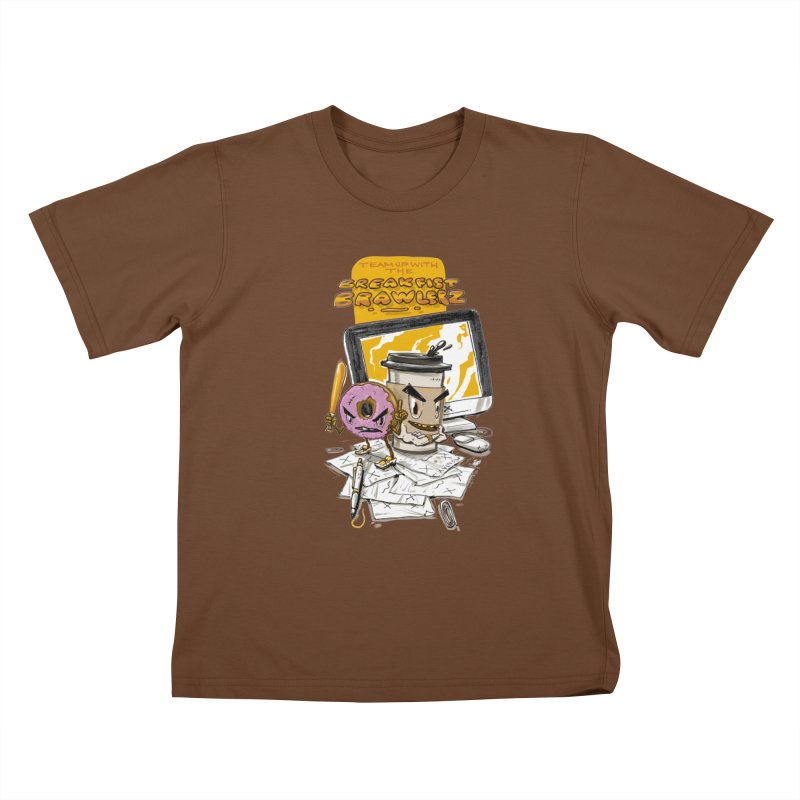 BREAKFIST BRAWLERZ Kids T-Shirt by JG2D Artist Shop