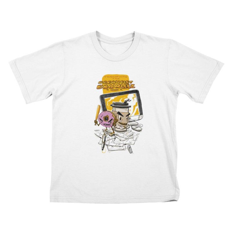 BREAKFIST BRAWLERZ Kids T-shirt by JG2D Artist Shop