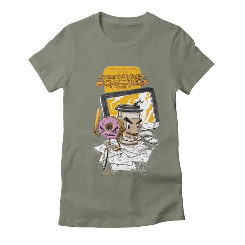 BREAKFIST BRAWLERZ Women's Fitted T-Shirt by JG2D Artist Shop