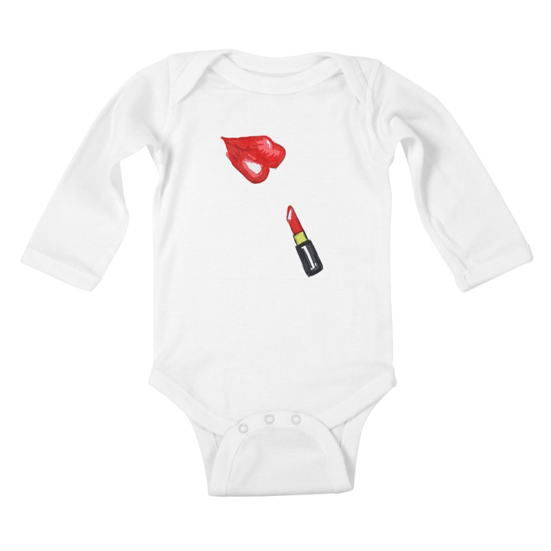 LIPSTICK Kids Baby Longsleeve Bodysuit by GLANZ