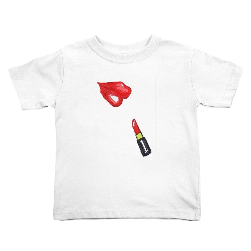 LIPSTICK Kids Toddler T-Shirt by GLANZ