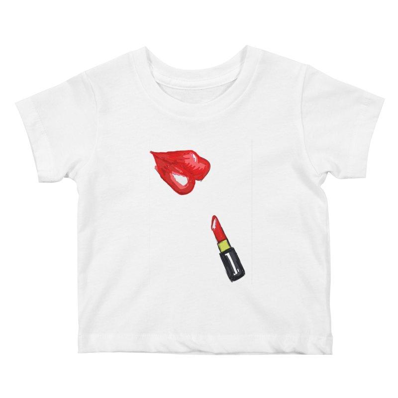 LIPSTICK Kids Baby T-Shirt by GLANZ