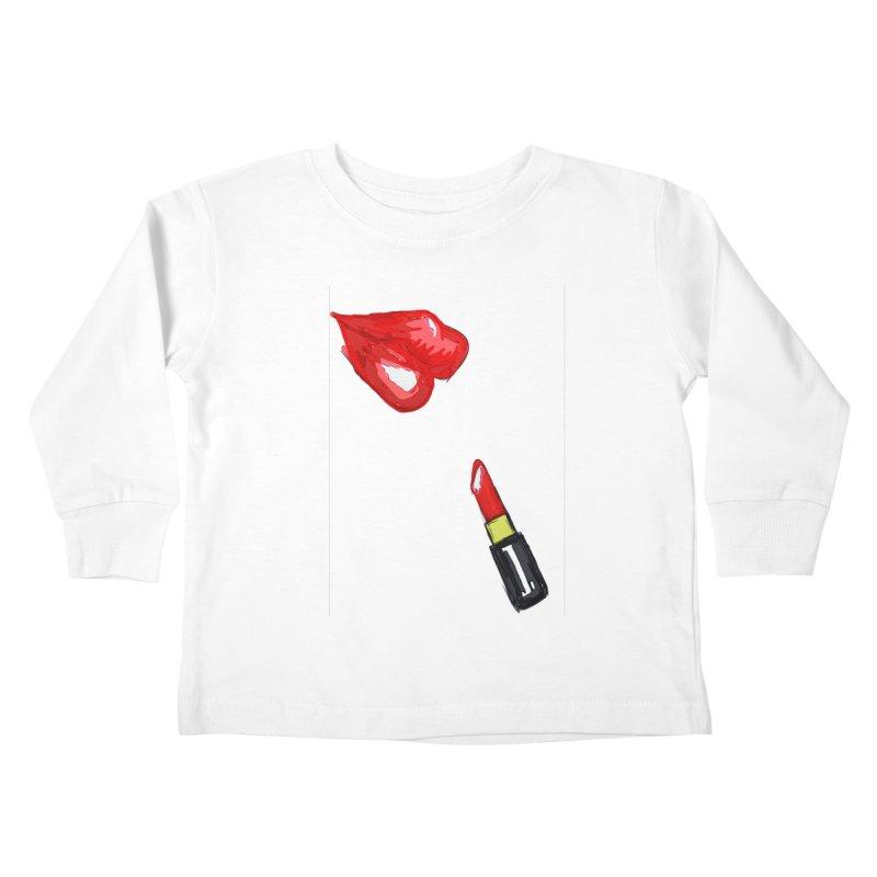 LIPSTICK Kids Toddler Longsleeve T-Shirt by GLANZ