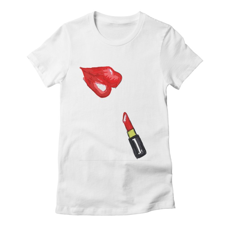 LIPSTICK Women's Fitted T-Shirt by GLANZ