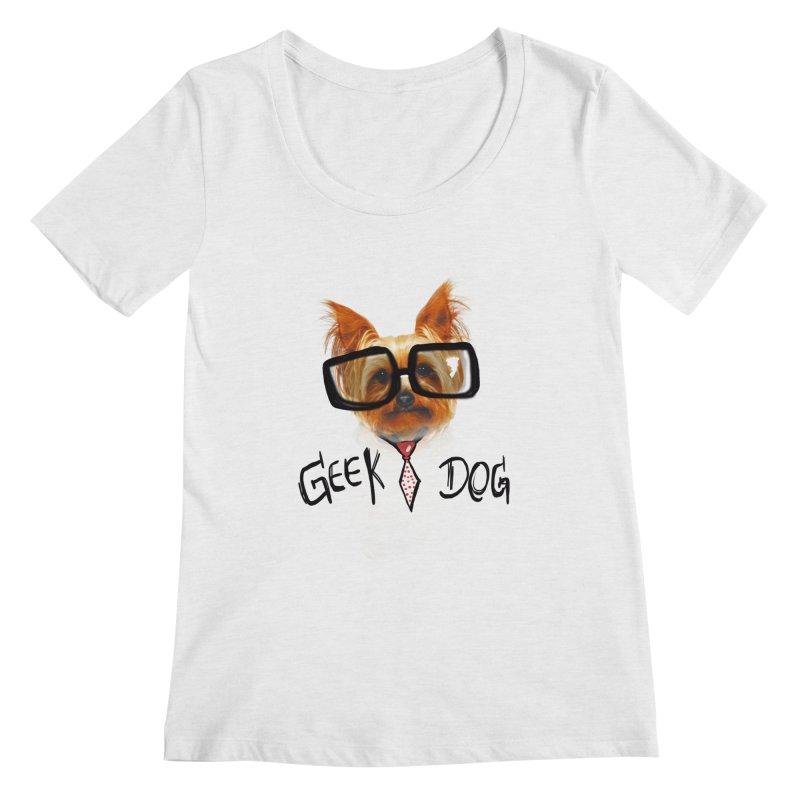 GeekDog Women's Scoopneck by GLANZ