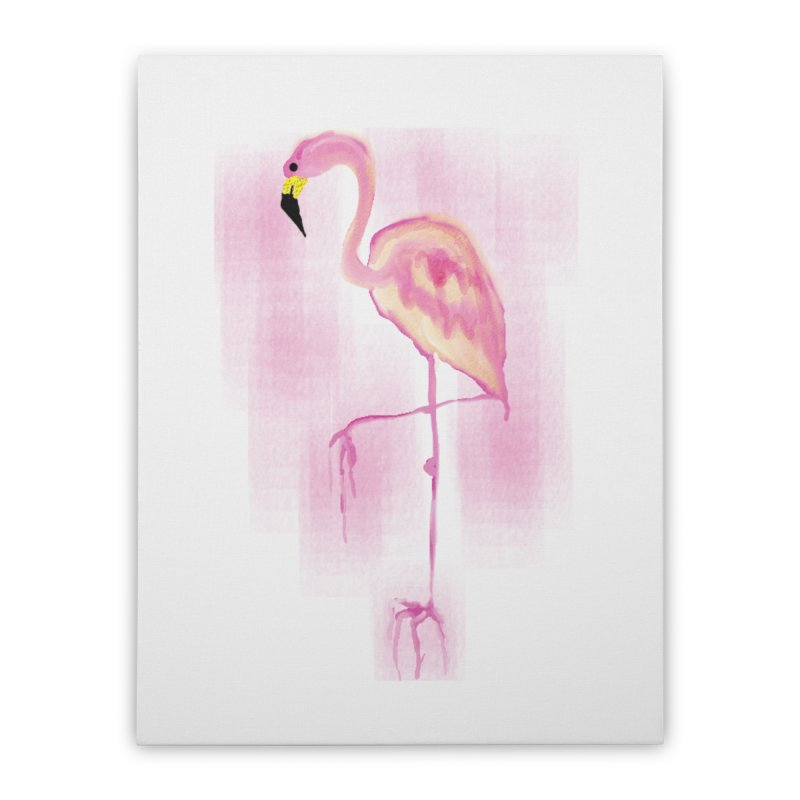 Flamingo Home Stretched Canvas by GLANZ