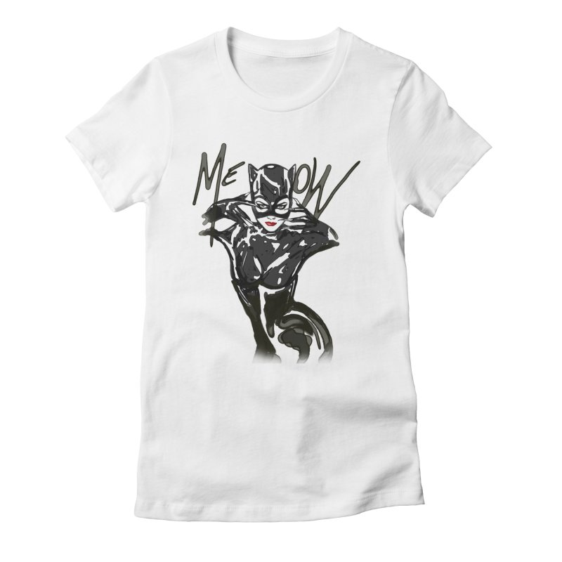 MEOW Women's Fitted T-Shirt by GLANZ
