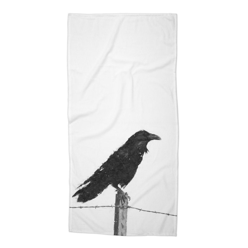 Raven Accessories Beach Towel by ゴロキ | GORODKEY | GRDK Clothing