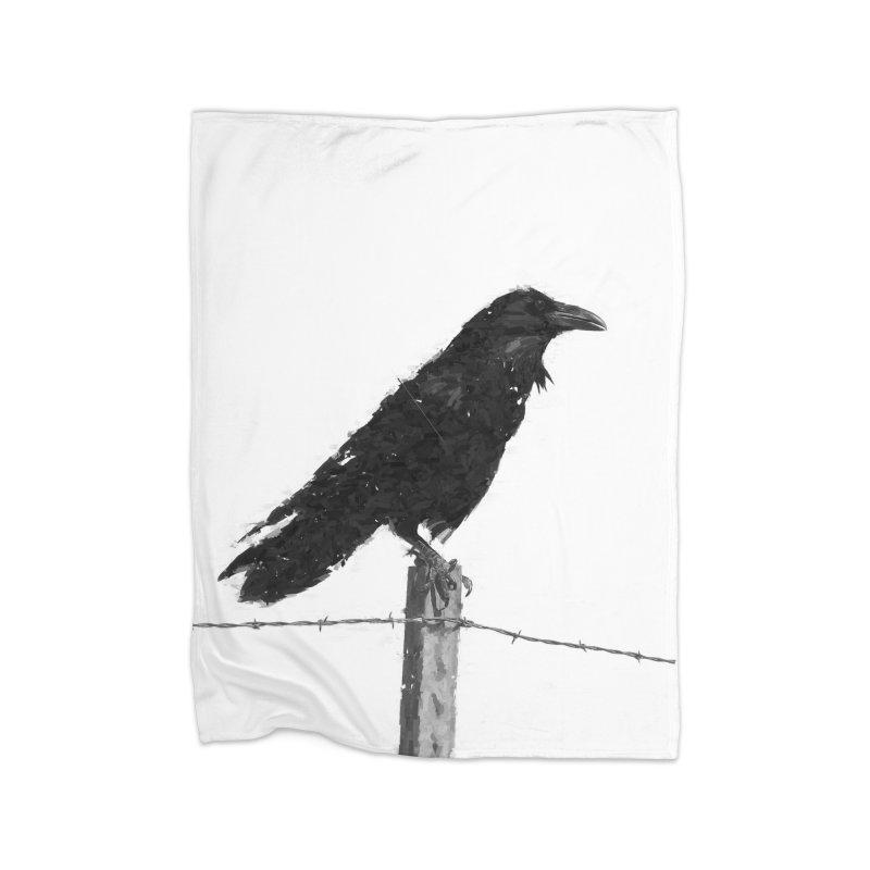Raven Home Fleece Blanket Blanket by ゴロキ | GORODKEY | GRDK Clothing