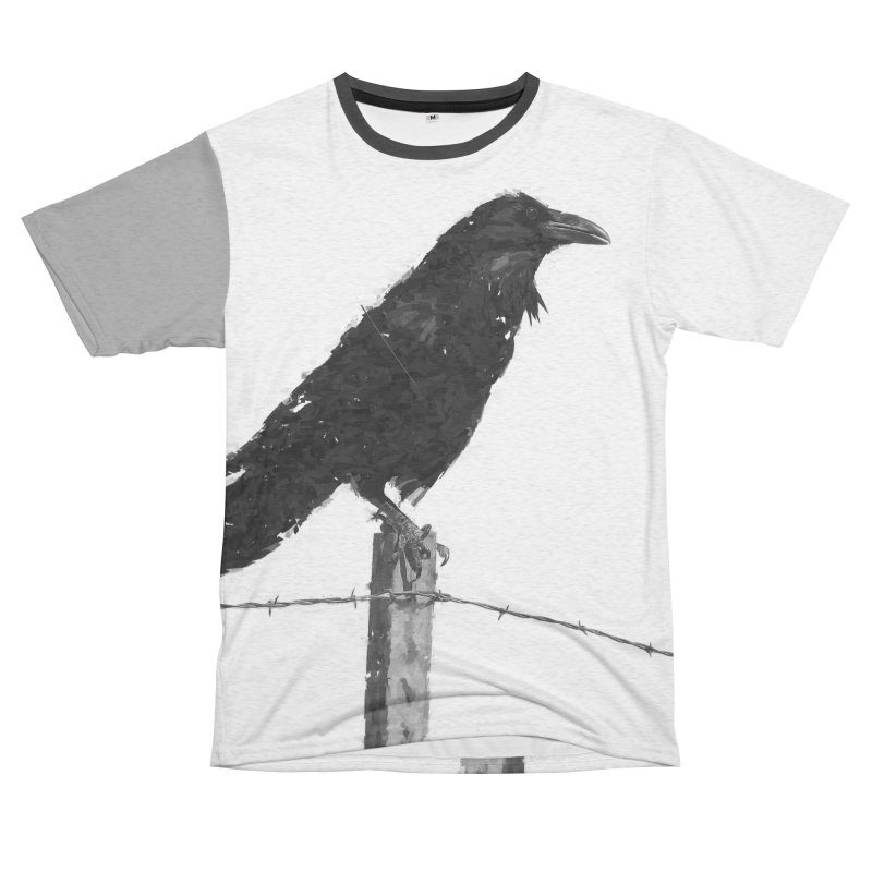 Raven Women's Unisex French Terry T-Shirt Cut & Sew by ゴロキ | GORODKEY | GRDK Clothing