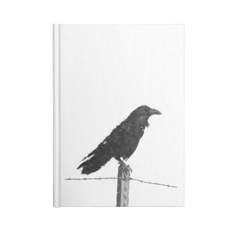 Raven Accessories Lined Journal Notebook by ゴロキ | GORODKEY | GRDK Clothing