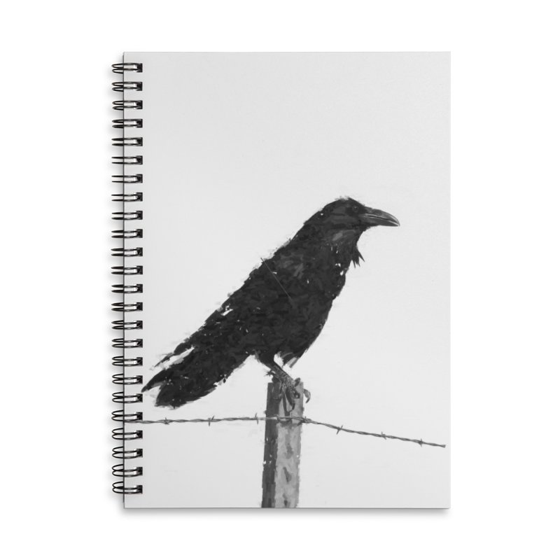 Raven Accessories Lined Spiral Notebook by ゴロキ | GORODKEY | GRDK Clothing