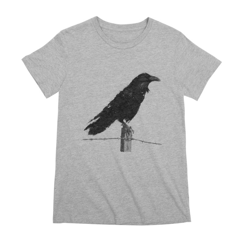Raven Women's Premium T-Shirt by ゴロキ   GORODKEY   GRDK Clothing