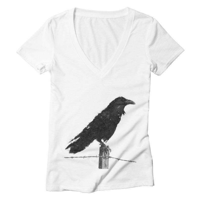 Raven Women's Deep V-Neck V-Neck by ゴロキ   GORODKEY   GRDK Clothing