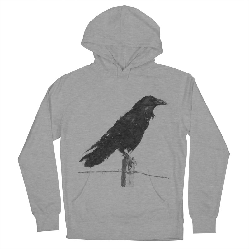 Raven Men's French Terry Pullover Hoody by ゴロキ   GORODKEY   GRDK Clothing