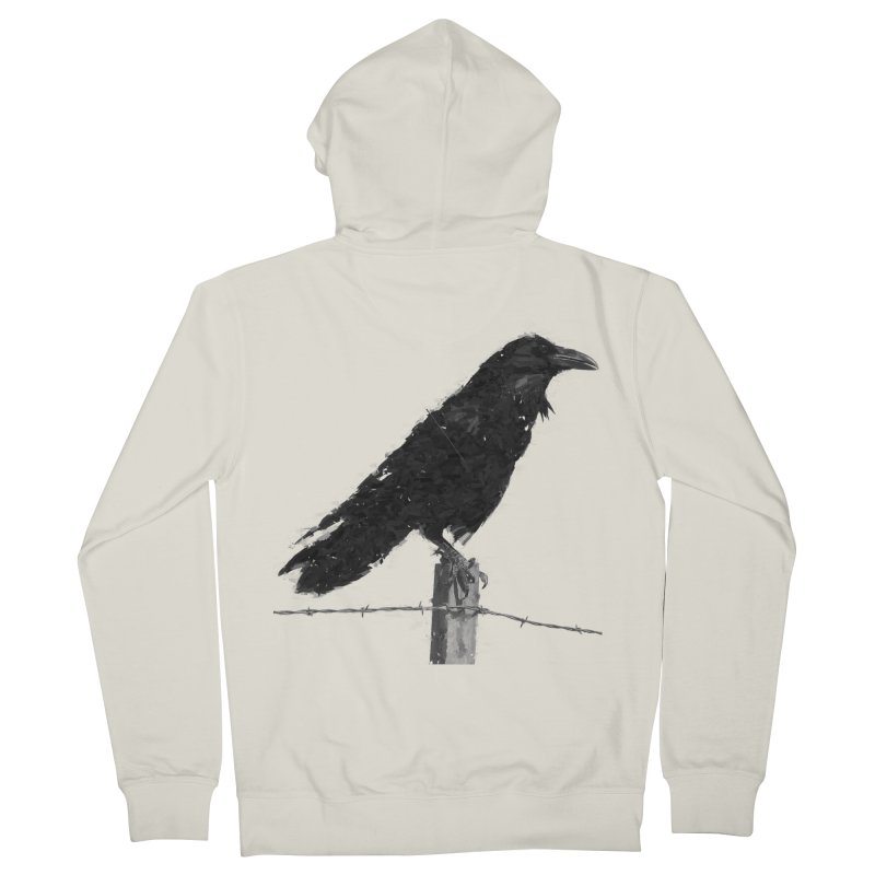 Raven Women's French Terry Zip-Up Hoody by ゴロキ | GORODKEY | GRDK Clothing