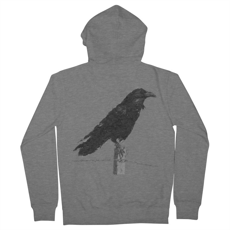 Raven Men's French Terry Zip-Up Hoody by ゴロキ   GORODKEY   GRDK Clothing
