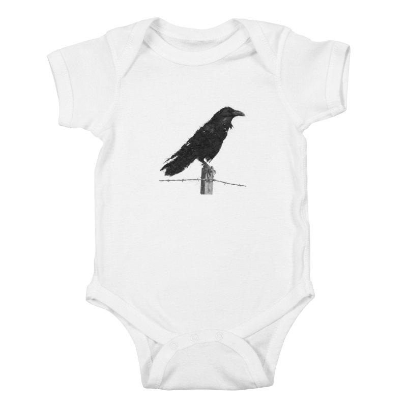 Raven Kids Baby Bodysuit by ゴロキ | GORODKEY | GRDK Clothing