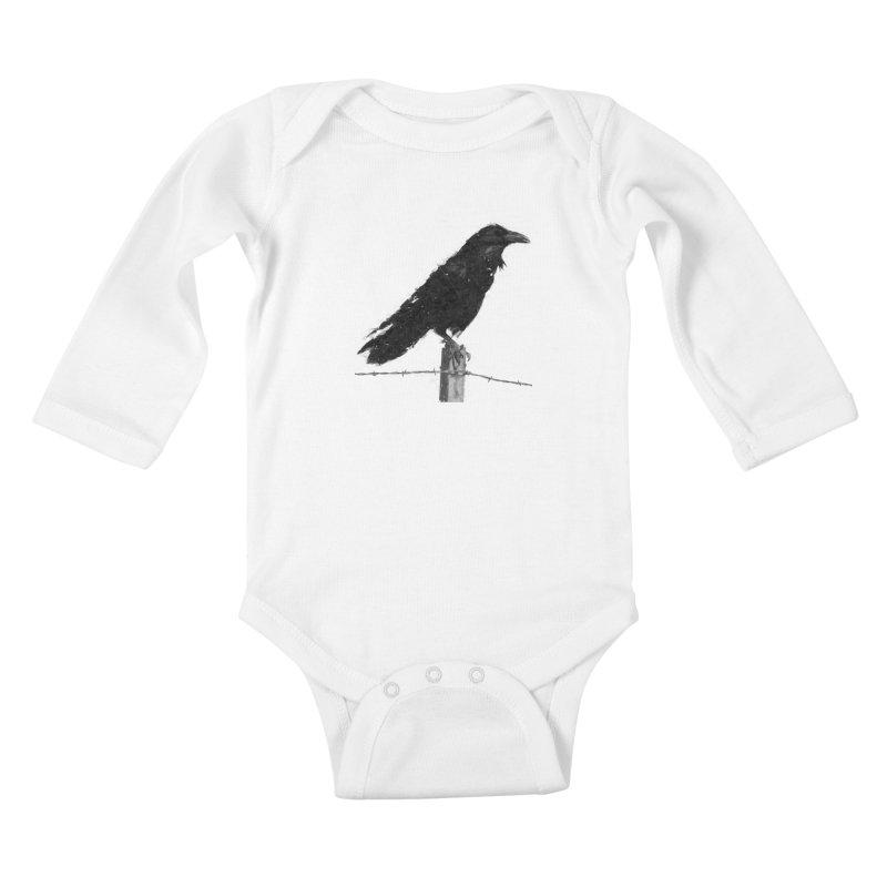 Raven Kids Baby Longsleeve Bodysuit by ゴロキ | GORODKEY | GRDK Clothing
