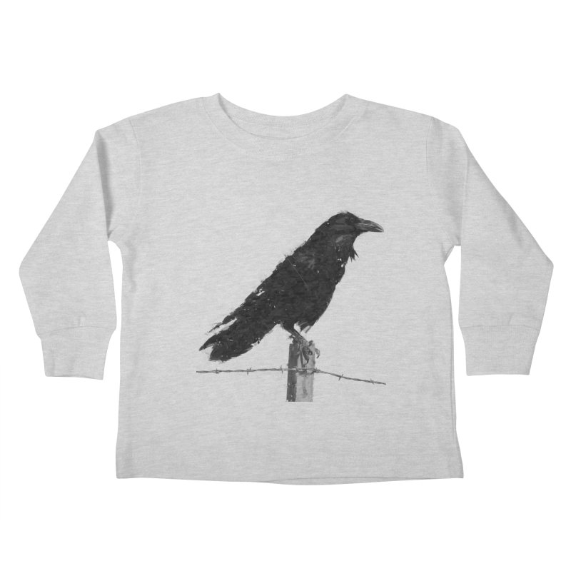 Raven Kids Toddler Longsleeve T-Shirt by ゴロキ | GORODKEY | GRDK Clothing