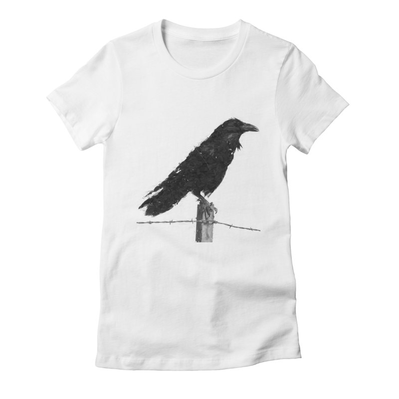 Raven Women's Fitted T-Shirt by ゴロキ | GORODKEY | GRDK Clothing