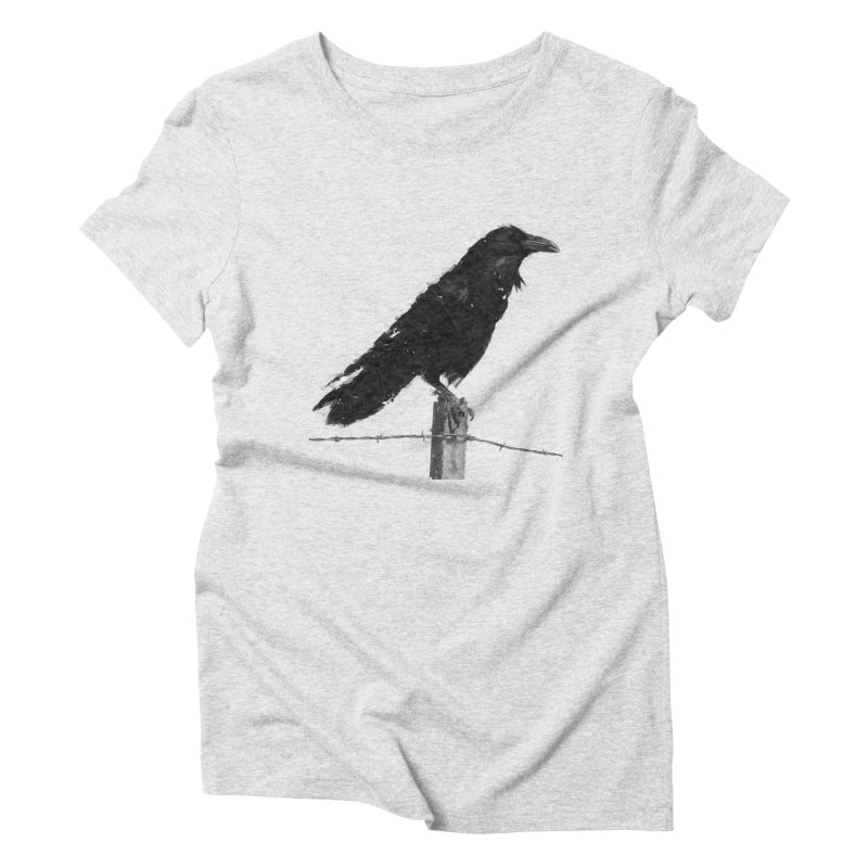 Raven Women's Triblend T-Shirt by ゴロキ | GORODKEY | GRDK Clothing