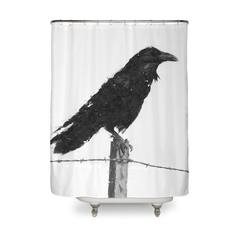 Raven Home Shower Curtain by ゴロキ | GORODKEY | GRDK Clothing