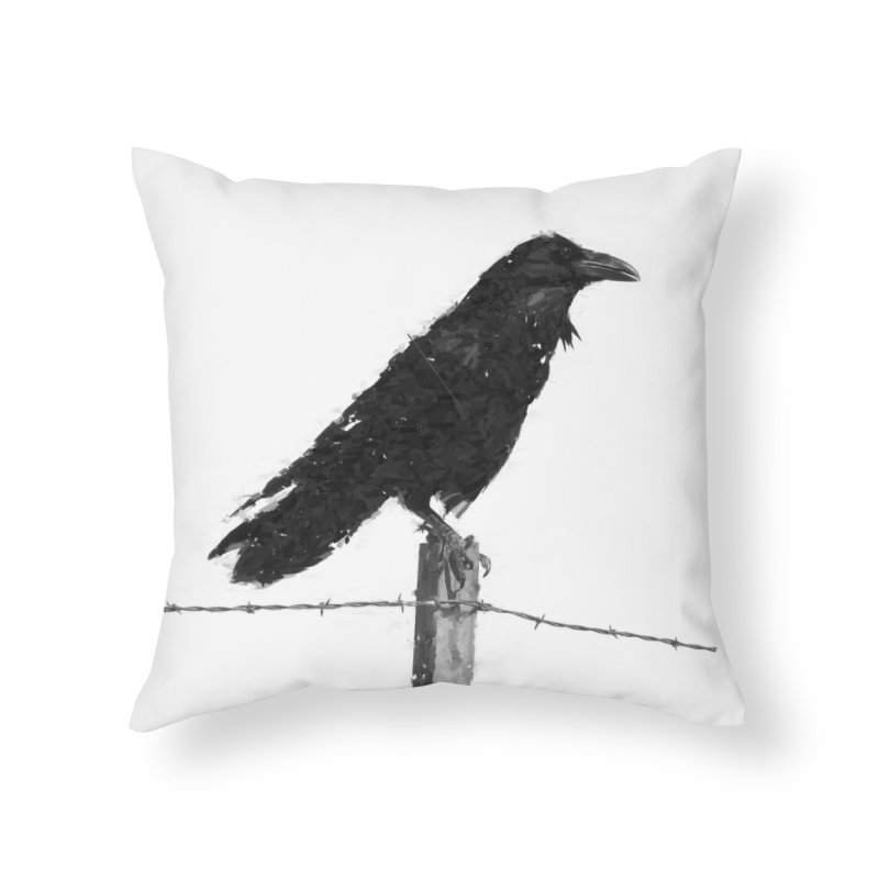 Raven Home Throw Pillow by ゴロキ | GORODKEY | GRDK Clothing