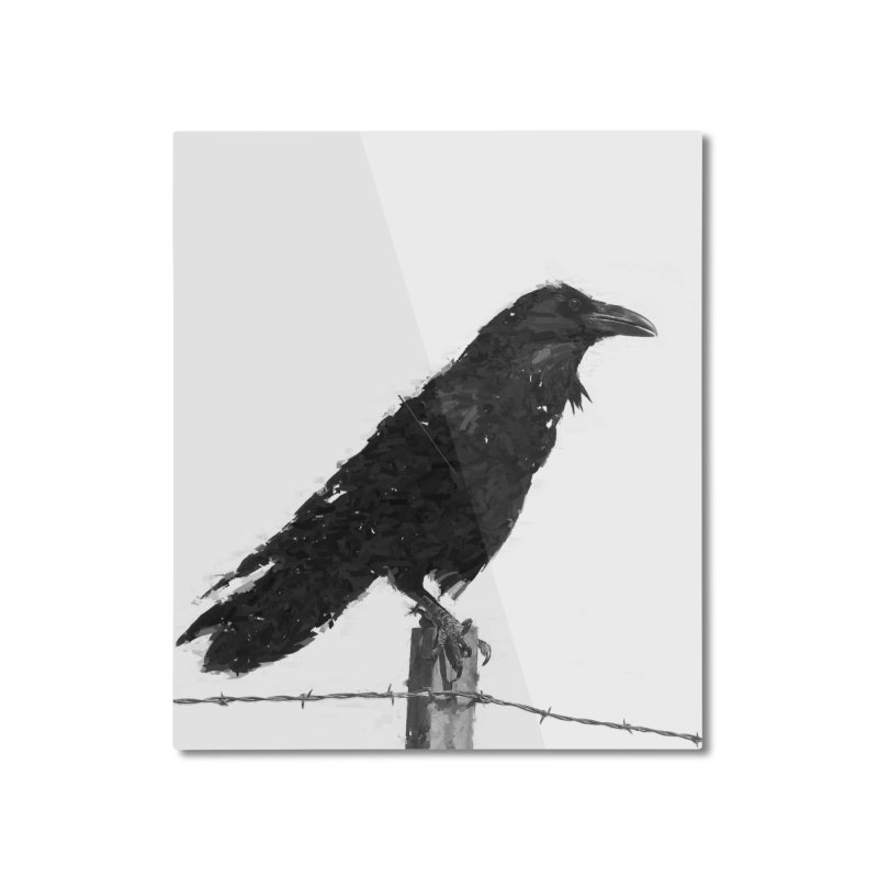 Raven Home Mounted Aluminum Print by ゴロキ | GORODKEY | GRDK Clothing