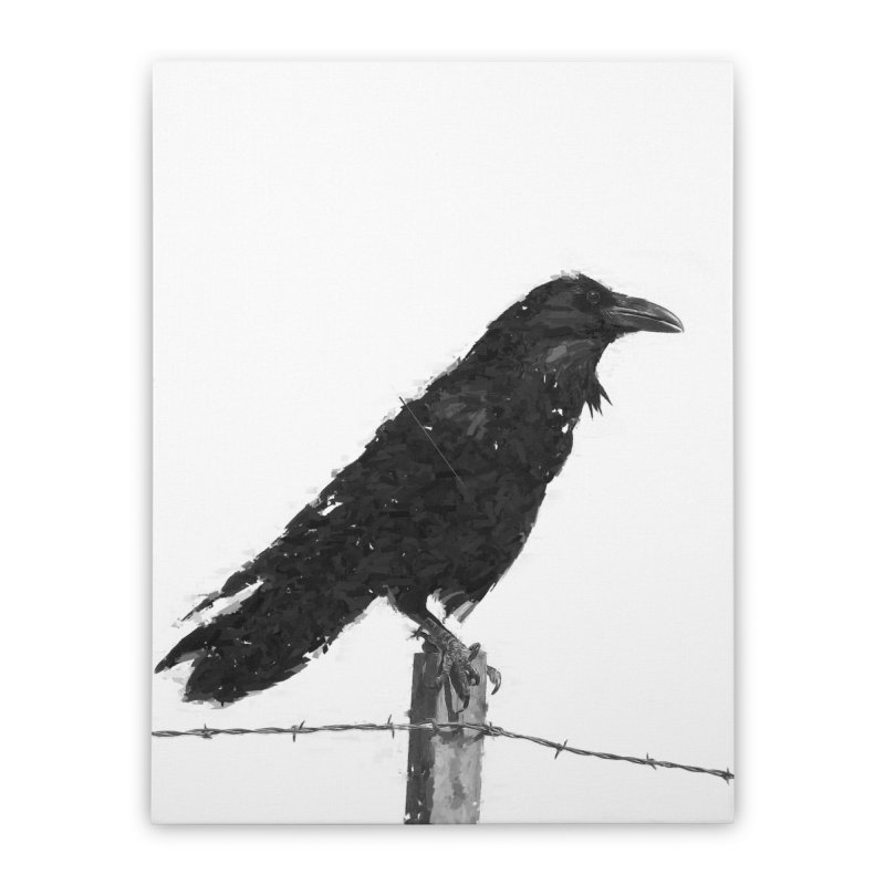 Raven Home Stretched Canvas by ゴロキ | GORODKEY | GRDK Clothing