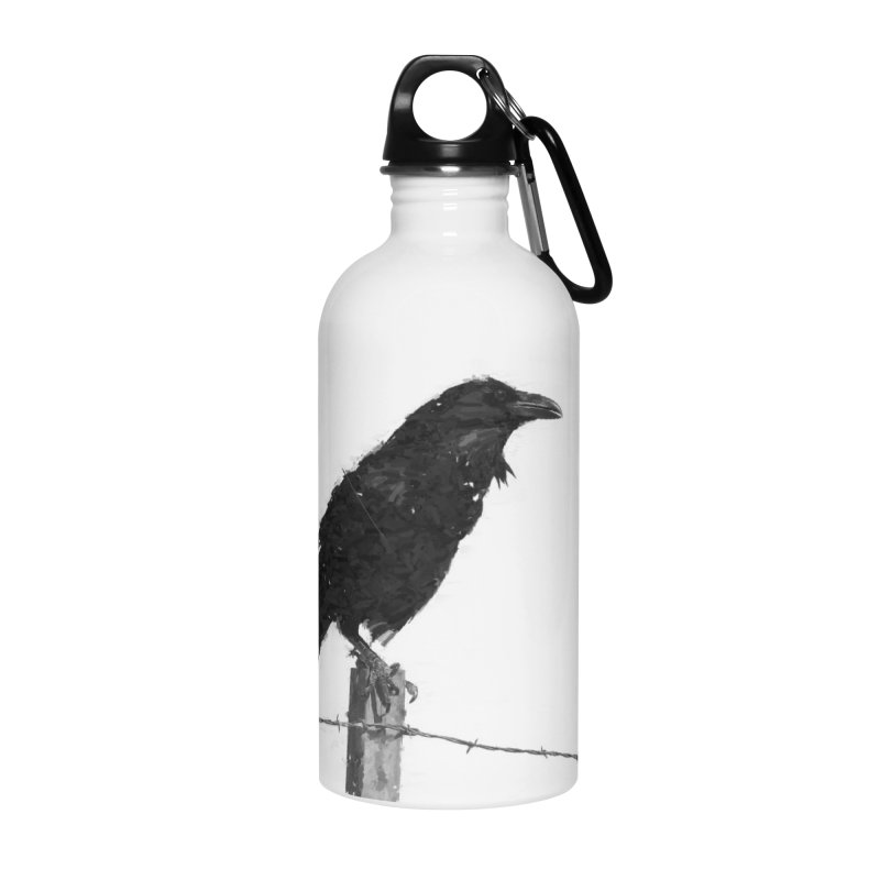 Raven Accessories Water Bottle by ゴロキ | GORODKEY | GRDK Clothing