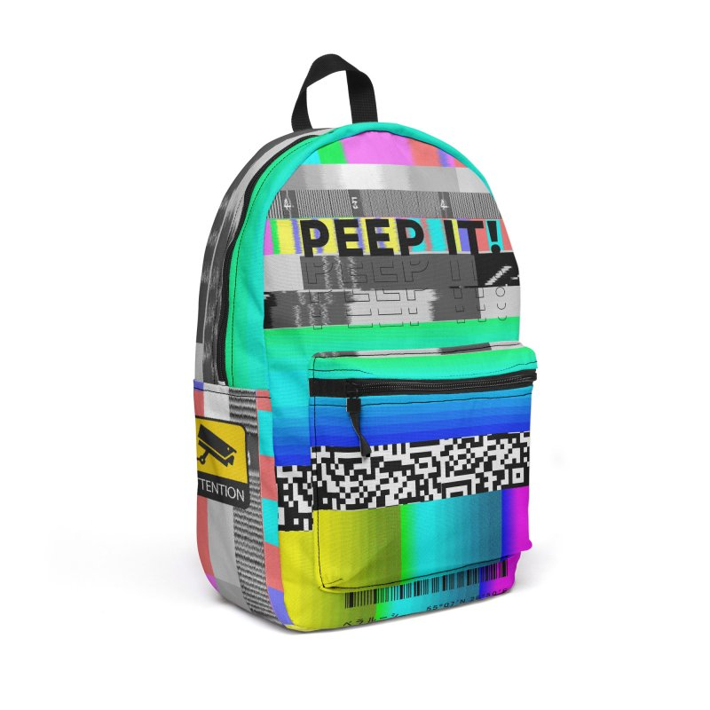 Peep It Accessories Backpack Bag by ゴロキ | GORODKEY | GRDK Clothing