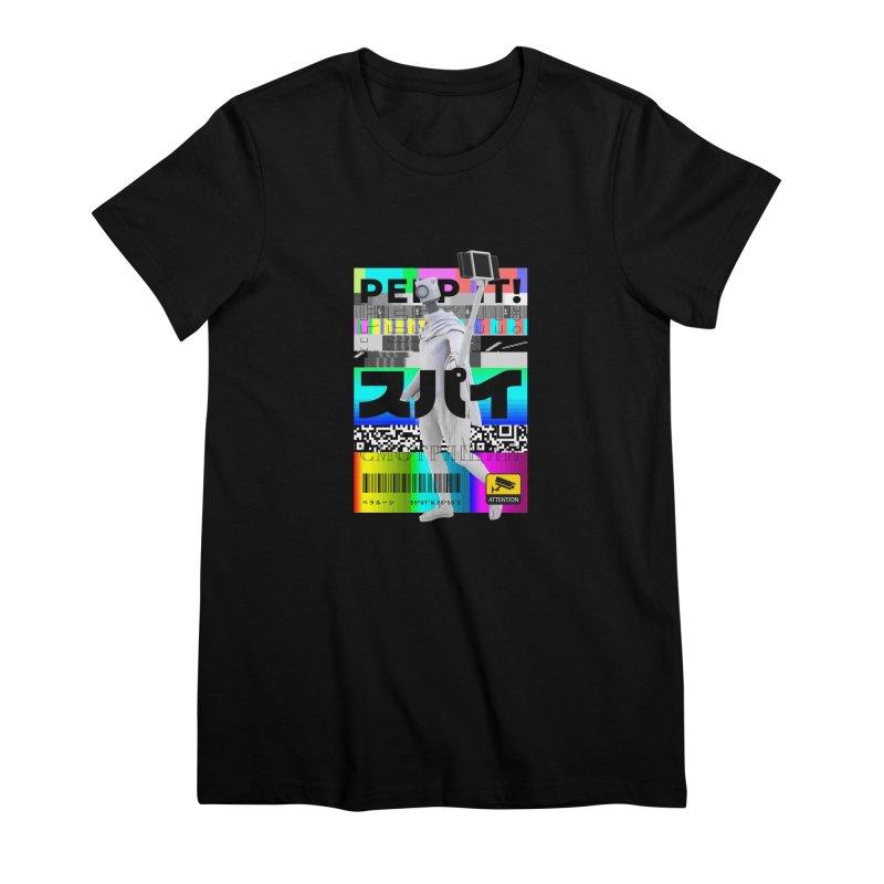 Peep It Women's Premium T-Shirt by ゴロキ | GORODKEY | GRDK Clothing
